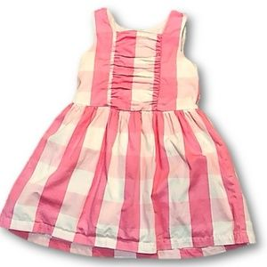 Pink and White gingham sleeveless dress 3T